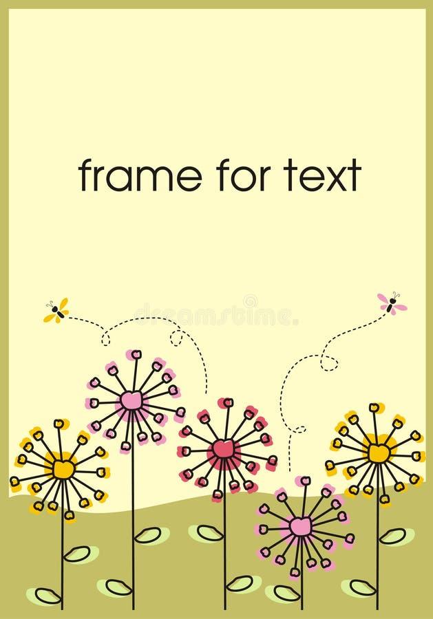 Download Πλαίσιο πικραλίδων διανυσματική απεικόνιση. εικονογραφία από φύση - 13182887
