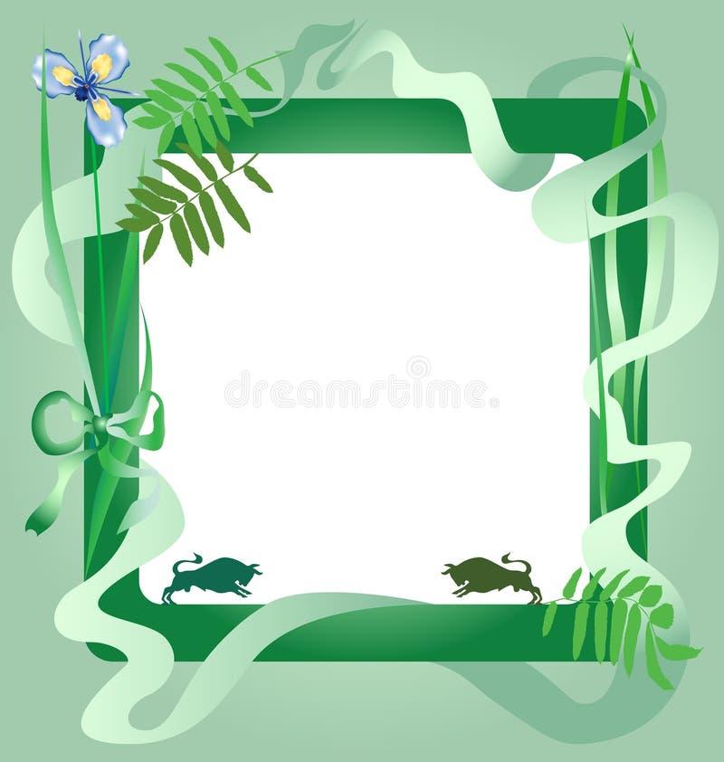 πλαίσιο πράσινο διανυσματική απεικόνιση