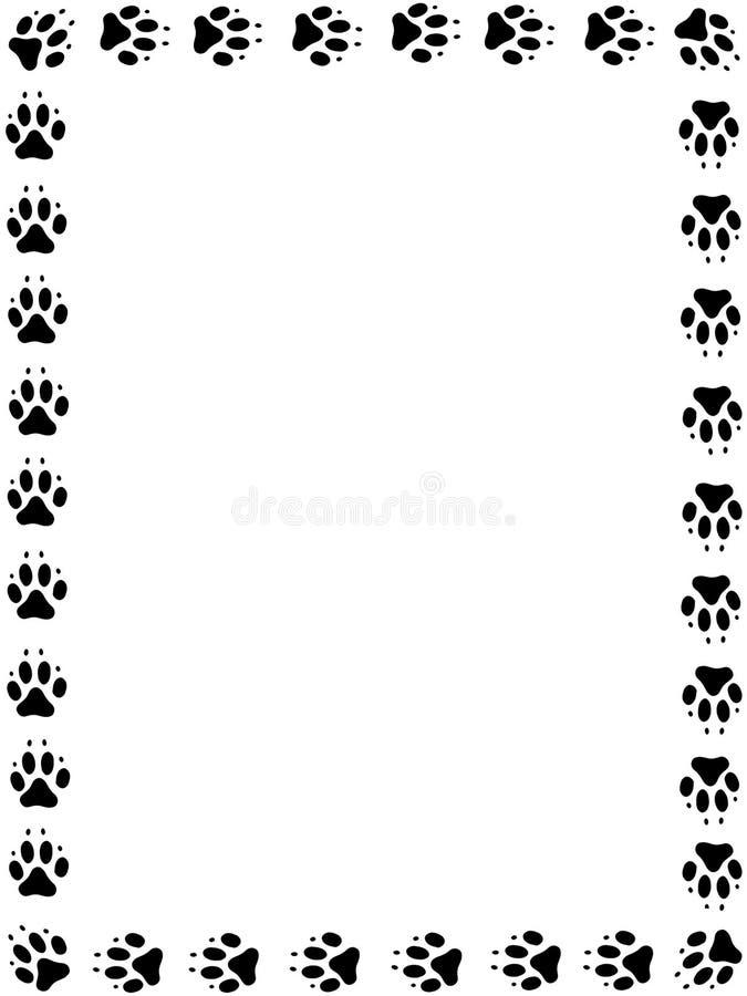 πλαίσιο σκυλιών pawprint διανυσματική απεικόνιση