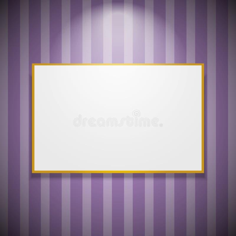 Πλαίσιο στον τοίχο ελεύθερη απεικόνιση δικαιώματος