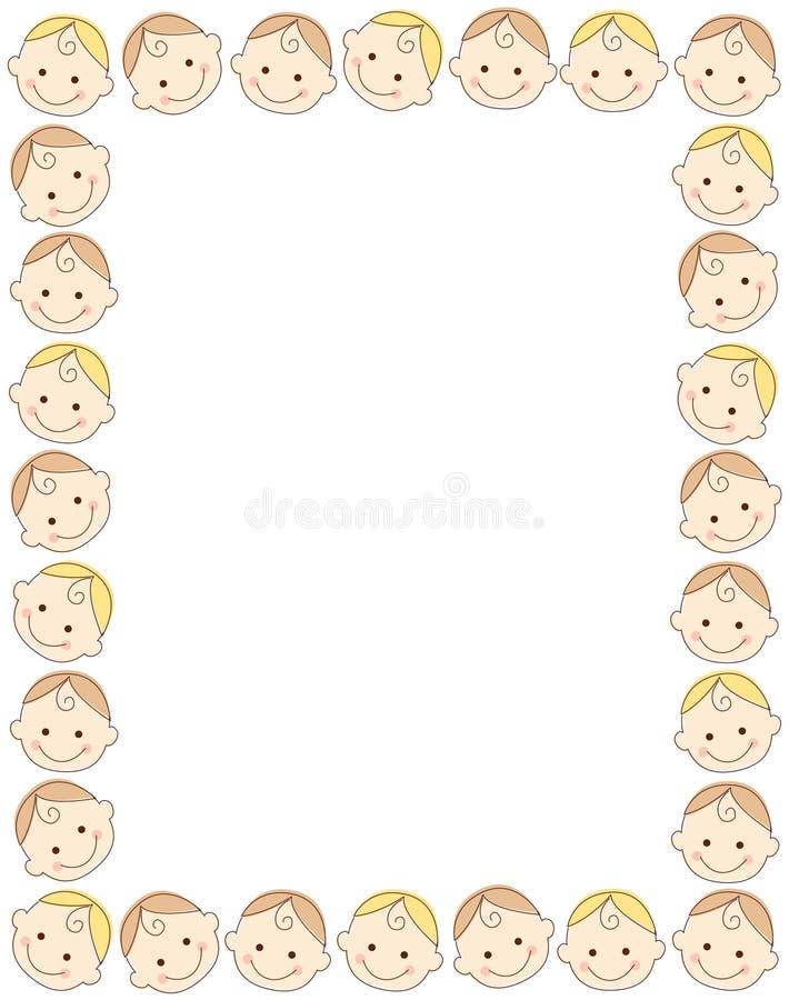 πλαίσιο συνόρων μωρών διανυσματική απεικόνιση