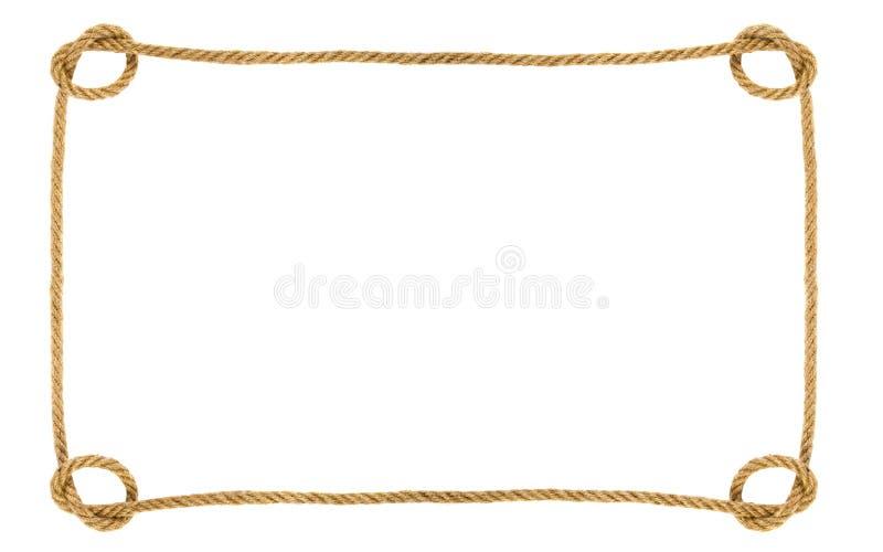 Πλαίσιο σχοινιών που απομονώνεται στο άσπρο υπόβαθρο στοκ φωτογραφία
