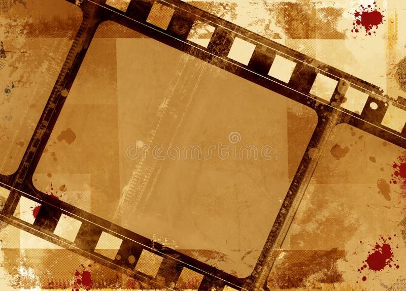 πλαίσιο ταινιών grunge διανυσματική απεικόνιση