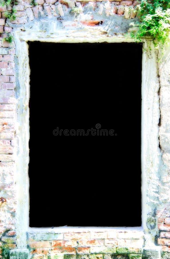 Πλαίσιο τούβλου με το μαύρο διάστημα αντιγράφων στοκ φωτογραφία