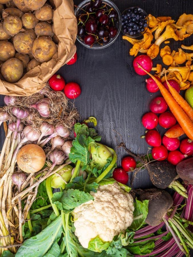 Πλαίσιο των υγιών τροφίμων χορτοφάγων πτώσης Μαγειρεύοντας υπόβαθρο Συστατικά για το γεύμα ημέρας των ευχαριστιών στοκ φωτογραφίες