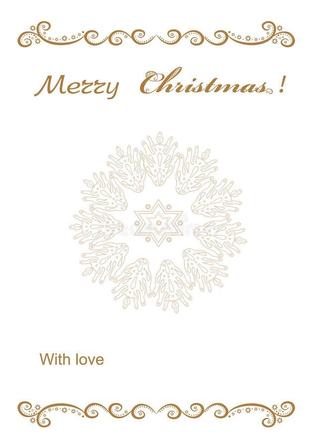 Πλαίσιο υποβάθρου Χριστουγέννων για τα συγχαρητήρια διανυσματική απεικόνιση