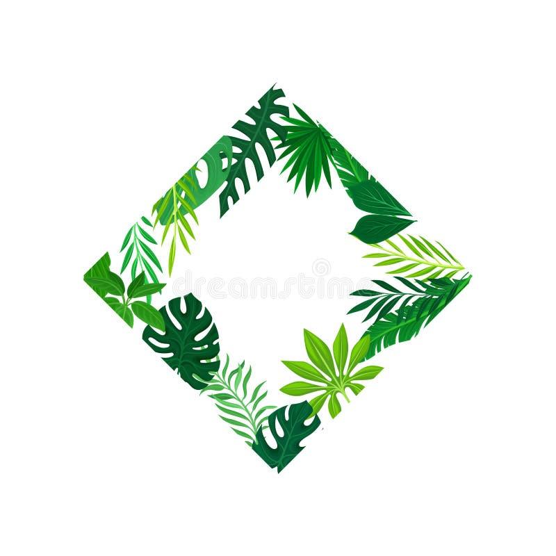 Πλαίσιο υπό μορφή τετραγώνου στη γωνία των φύλλων που τοποθετούνται μέσα E ελεύθερη απεικόνιση δικαιώματος