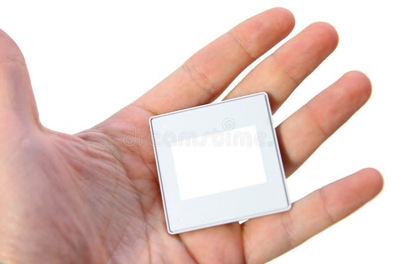 Πλαίσιο φωτογραφιών για τη φωτογραφική διαφάνεια υπό εξέταση στοκ εικόνες με δικαίωμα ελεύθερης χρήσης