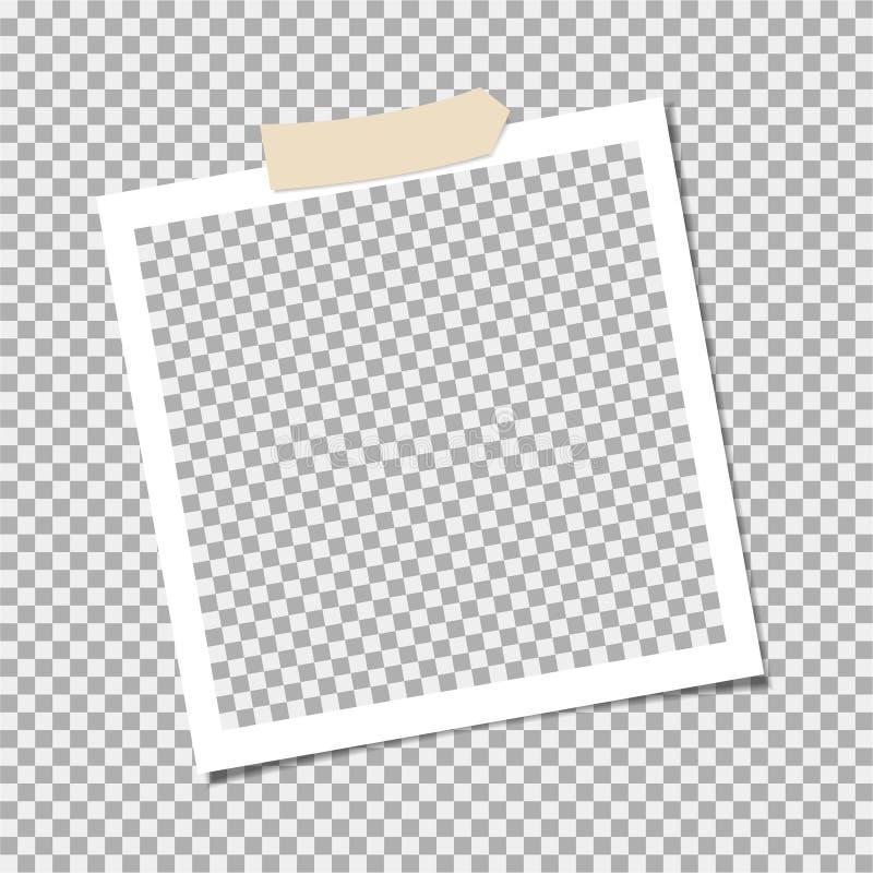 Πλαίσιο φωτογραφιών με την κολλητική ταινία, κολλώδης ταινία r r απεικόνιση αποθεμάτων