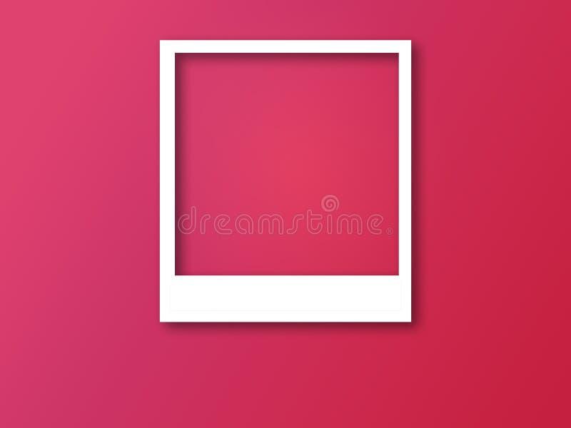 Πλαίσιο φωτογραφιών με το διάστημα για το κείμενο και τη μαλακή σκιά απεικόνιση αποθεμάτων