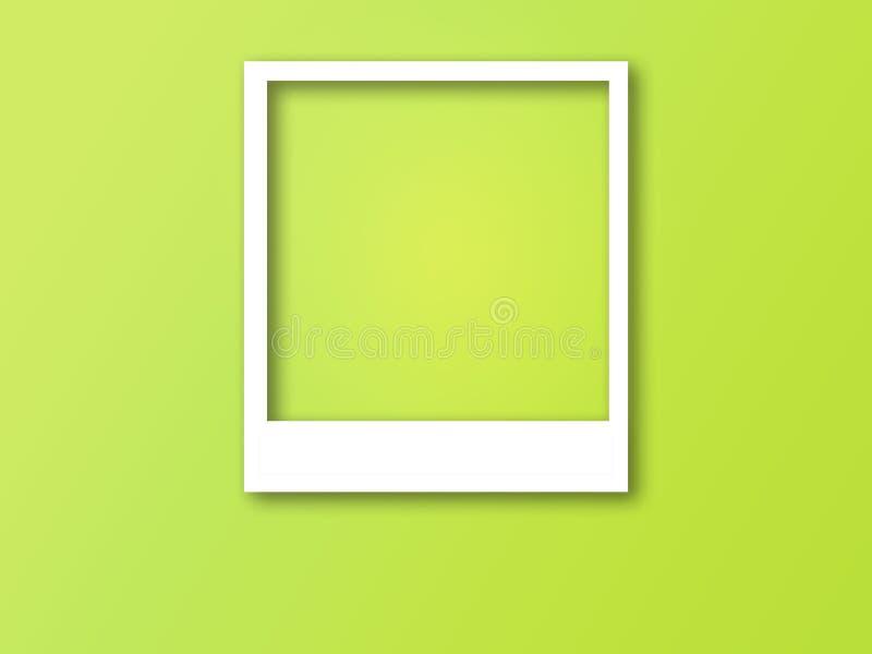 Πλαίσιο φωτογραφιών με το διάστημα για το κείμενο και τη μαλακή σκιά διανυσματική απεικόνιση