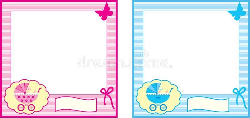 Πλαίσιο φωτογραφιών μωρών. διανυσματική απεικόνιση