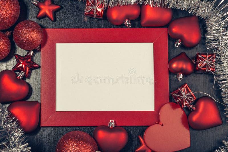 Πλαίσιο φωτογραφιών Χριστουγέννων στοκ εικόνες με δικαίωμα ελεύθερης χρήσης