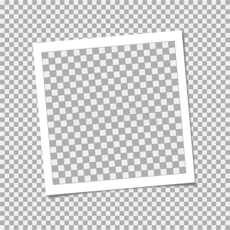 Πλαίσιο φωτογραφιών Polaroid με τη σκιά στο υπόβαθρο απομονώσεων Διανυσματικό πρότυπο για την καθιερώνουσα τη μόδα φωτογραφία ή τ απεικόνιση αποθεμάτων