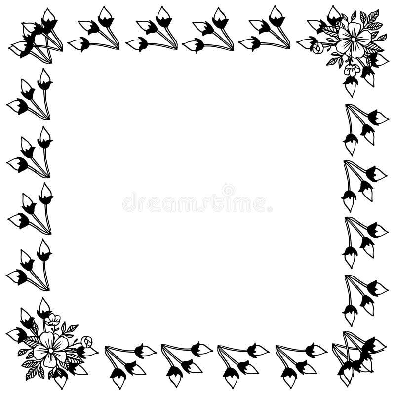 Πλαίσιο φύσης με το floral στοιχείο σχεδίου r διανυσματική απεικόνιση