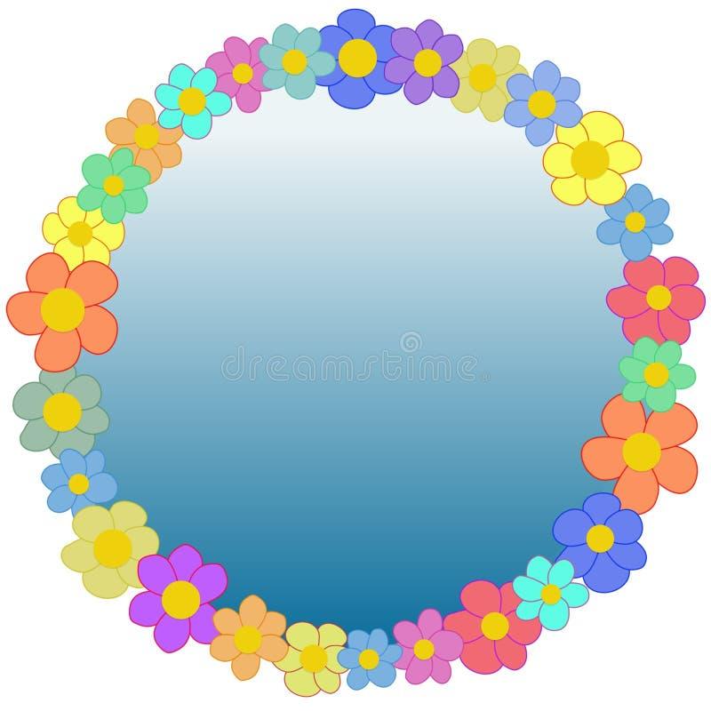 πλαίσιο 2 λουλουδιών απεικόνιση αποθεμάτων