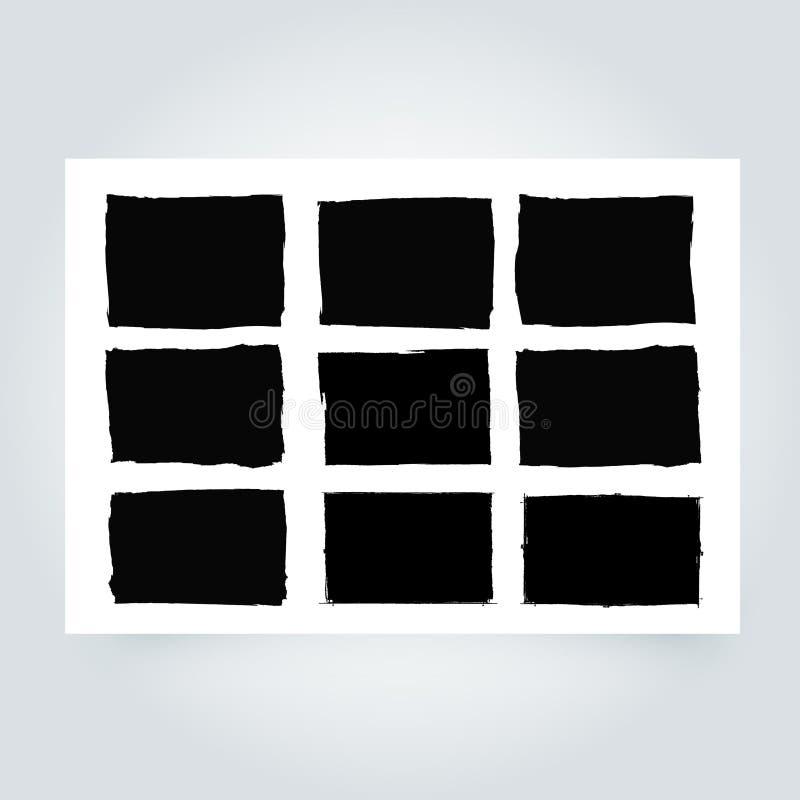 πλαίσιο grunge Υπόβαθρο συνόρων Grunge αφηρημένο διάνυσμα προτύπων διανυσματική απεικόνιση