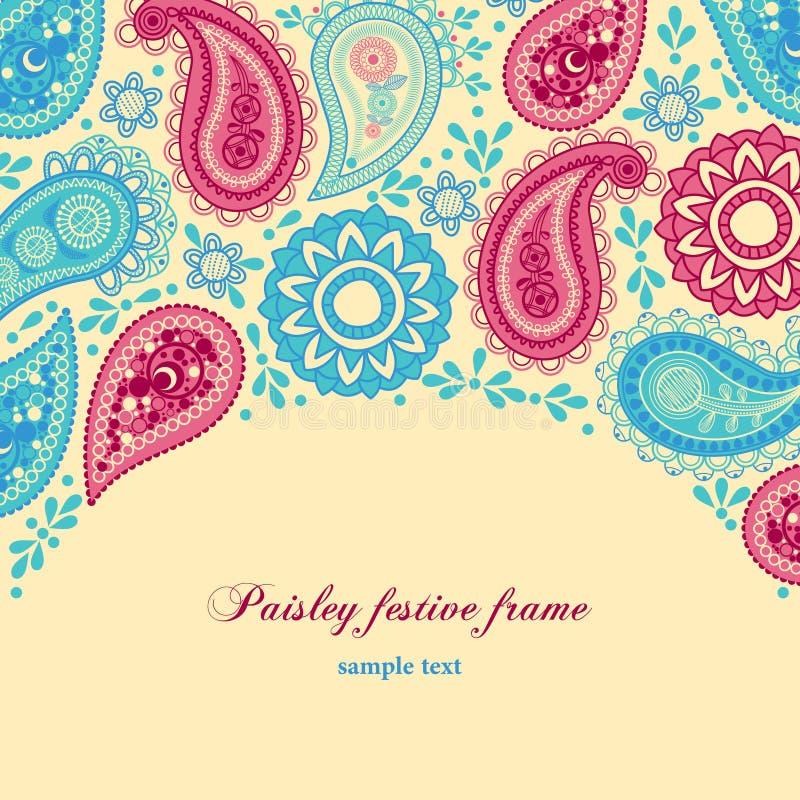 πλαίσιο Paisley διανυσματική απεικόνιση