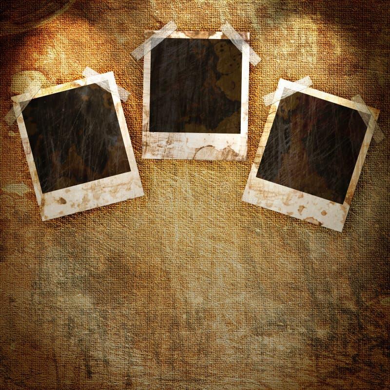 Πλαίσιο Polaroid στο grunge διανυσματική απεικόνιση