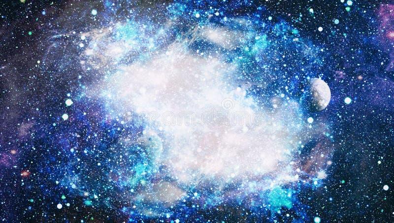 Πλανήτες, αστέρια και γαλαξίες στο μακρινό διάστημα που παρουσιάζει την ομορφιά της εξερεύνησης του διαστήματος Στοιχεία που εφοδ στοκ φωτογραφία