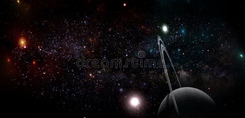 Πλανήτες και γαλαξίας, ταπετσαρία επιστημονικής φαντασίας Ομορφιά του βαθιού διαστήματος στοκ φωτογραφία με δικαίωμα ελεύθερης χρήσης