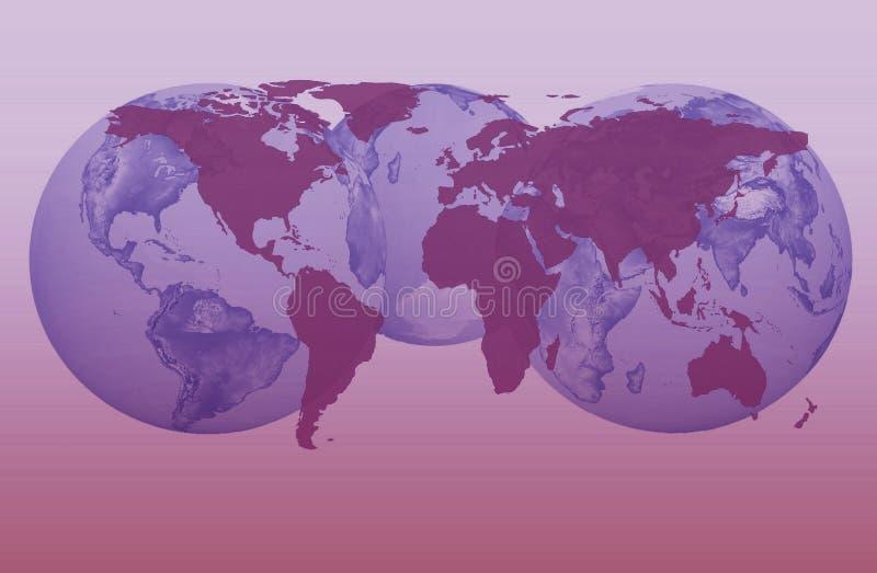 πλανήτης γήινων σφαιρικός &chi διανυσματική απεικόνιση