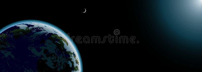 πλανήτης γήινων φεγγαριών &epsi ελεύθερη απεικόνιση δικαιώματος