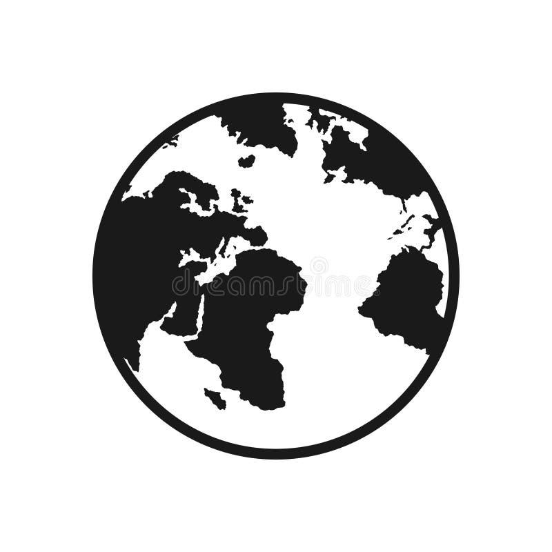 πλανήτης επίγειος Η γη, παγκόσμιος χάρτης στο άσπρο υπόβαθρο επίσης corel σύρετε το διάνυσμα απεικόνισης ελεύθερη απεικόνιση δικαιώματος