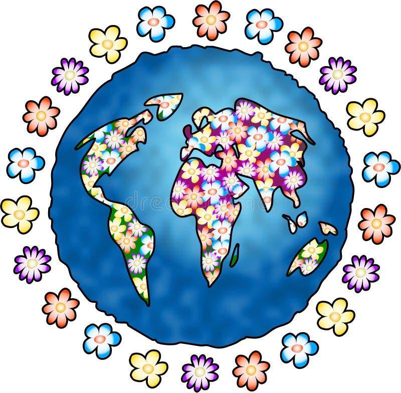 Download πλανήτης λουλουδιών απεικόνιση αποθεμάτων. εικόνα από λουλούδια - 119078