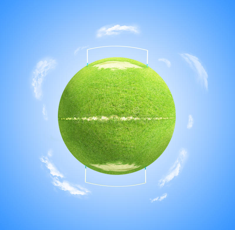 πλανήτης ποδοσφαίρου στοκ εικόνα