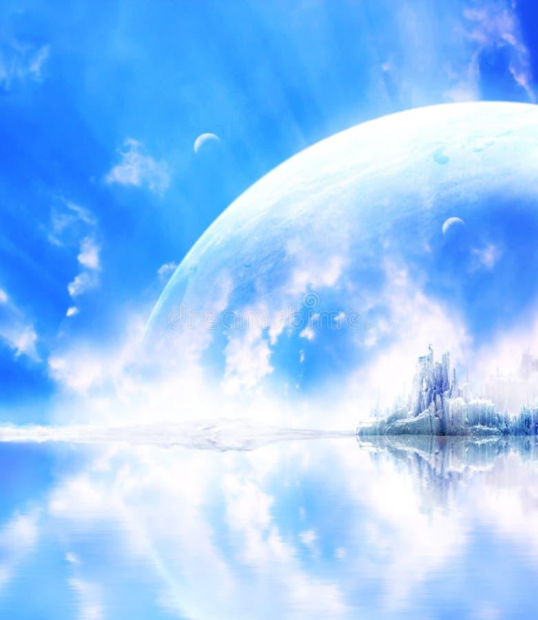 πλανήτης τοπίων φαντασίας διανυσματική απεικόνιση