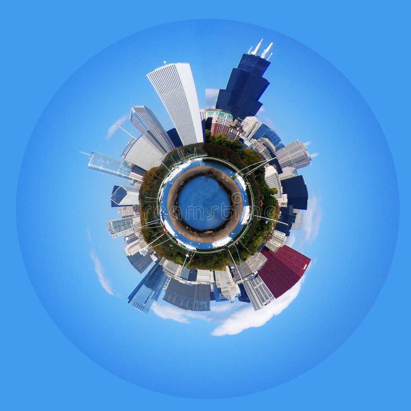Download πλανήτης του Σικάγου στοκ εικόνα. εικόνα από λίμνη, σικάγο - 22794867