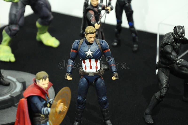Πλασματικός αριθμός δράσης χαρακτήρα καπετάνιος America από το comics & τους κινηματογράφους θαύματος στοκ φωτογραφία με δικαίωμα ελεύθερης χρήσης