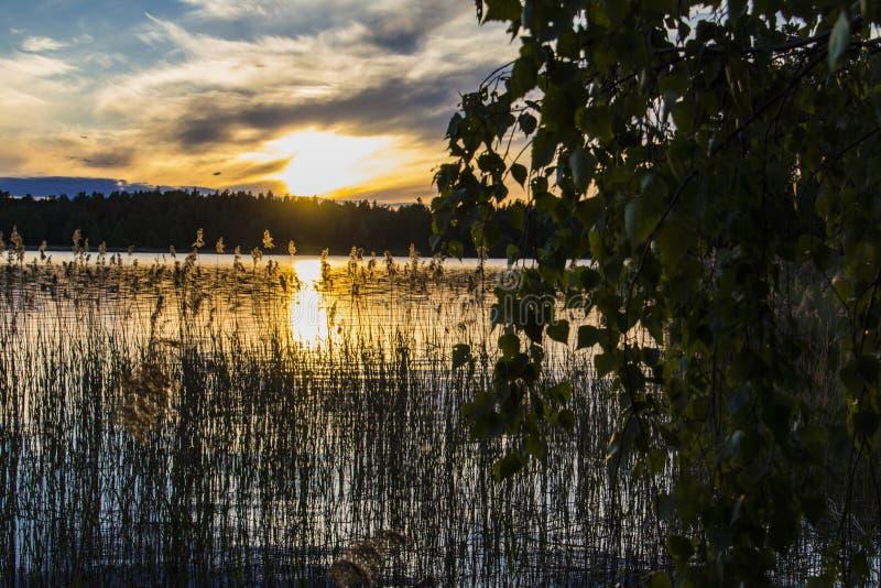 Πλασματικός ουρανός στο ηλιοβασίλεμα στοκ φωτογραφίες με δικαίωμα ελεύθερης χρήσης