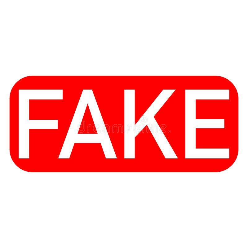 πλαστές άσπρες επιστολές γραμματοσήμων στο κόκκινο υπόβαθρο ελεύθερη απεικόνιση δικαιώματος