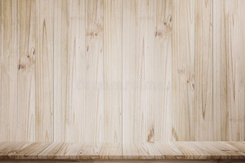 Πλαστή επάνω ξύλινη άποψη επιτραπέζιας προοπτικής στοκ εικόνες