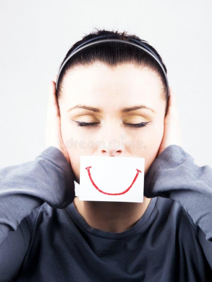 πλαστή λυπημένη γυναίκα χα στοκ φωτογραφία με δικαίωμα ελεύθερης χρήσης