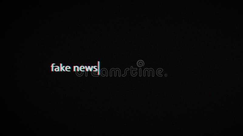 Πλαστή οθόνη lap-top κειμένων ειδήσεων απεικόνιση αποθεμάτων
