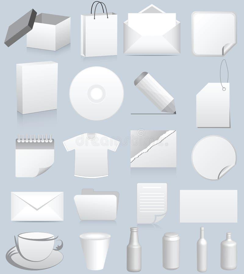 πλαστή παρουσίαση επάνω απεικόνιση αποθεμάτων