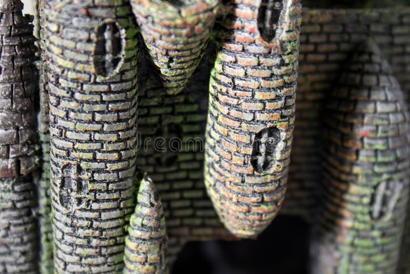 Πλαστή σύνθεση υποβάθρου κάστρων στοκ φωτογραφία