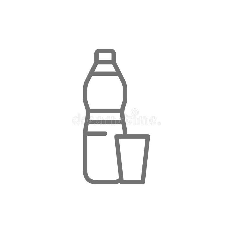 Πλαστικά απορρίμματα, εικονίδιο γραμμών αποβλήτων o ελεύθερη απεικόνιση δικαιώματος