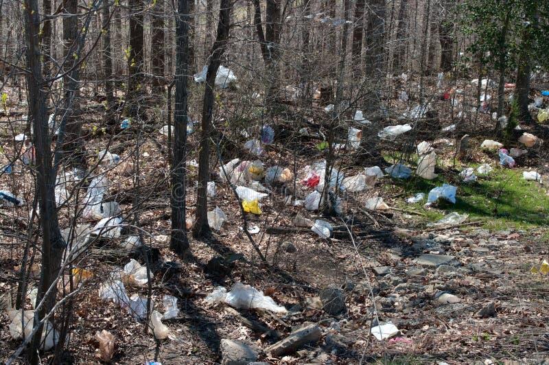 πλαστικά απορρίμματα τσαν&t στοκ φωτογραφίες με δικαίωμα ελεύθερης χρήσης