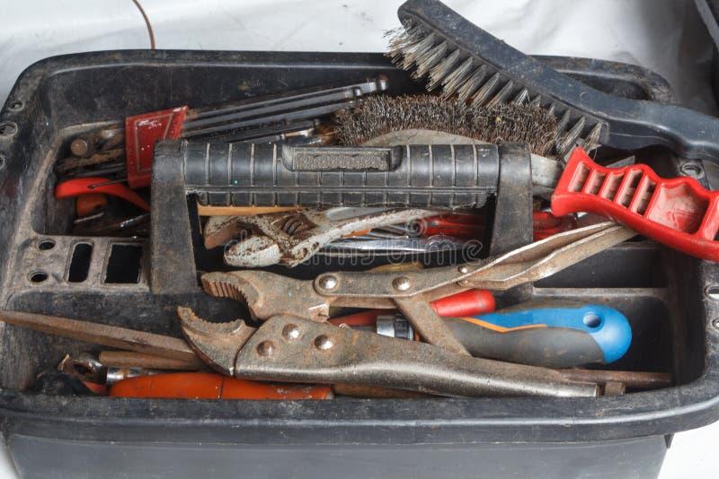 Πλαστική εργαλειοθήκη στοκ φωτογραφία με δικαίωμα ελεύθερης χρήσης