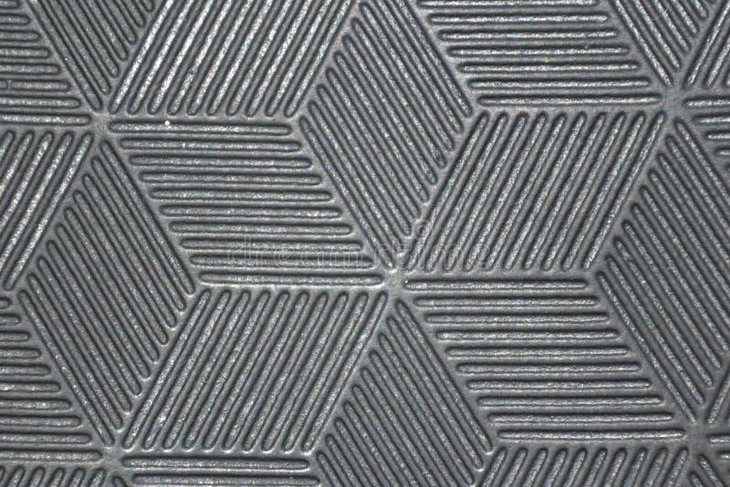 Πλαστική κινηματογράφηση σε πρώτο πλάνο σύστασης υφάσματος Γκρίζο σχέδιο διαμαντιών αντίθεσης στοκ εικόνες με δικαίωμα ελεύθερης χρήσης