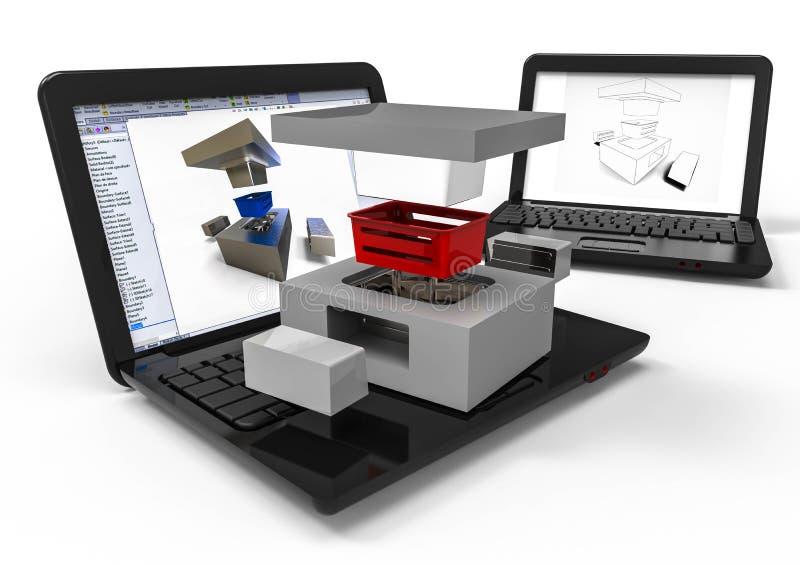 Πλαστική φόρμα με την βοήθεια υπολογιστή σχεδιασμού ελεύθερη απεικόνιση δικαιώματος