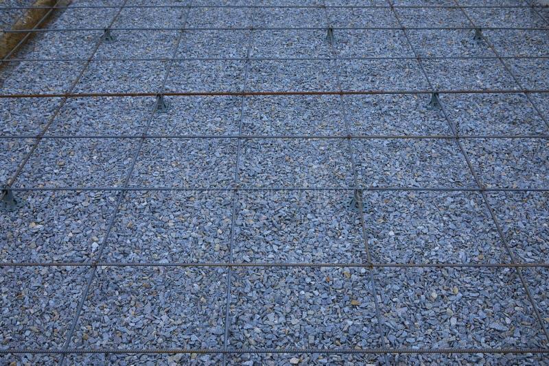 Πλαστικοί συναρμολογητές ενίσχυσης Πλέγμα καλωδίων σιδήρου για τα πατώματα των κτηρίων στοκ εικόνες