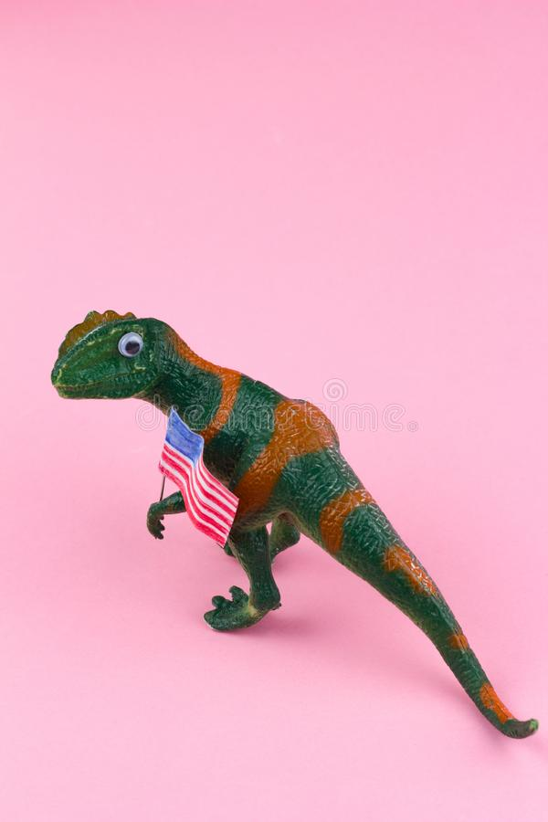 Πλαστικός αστείος πράσινος δεινόσαυρος στοκ φωτογραφίες με δικαίωμα ελεύθερης χρήσης