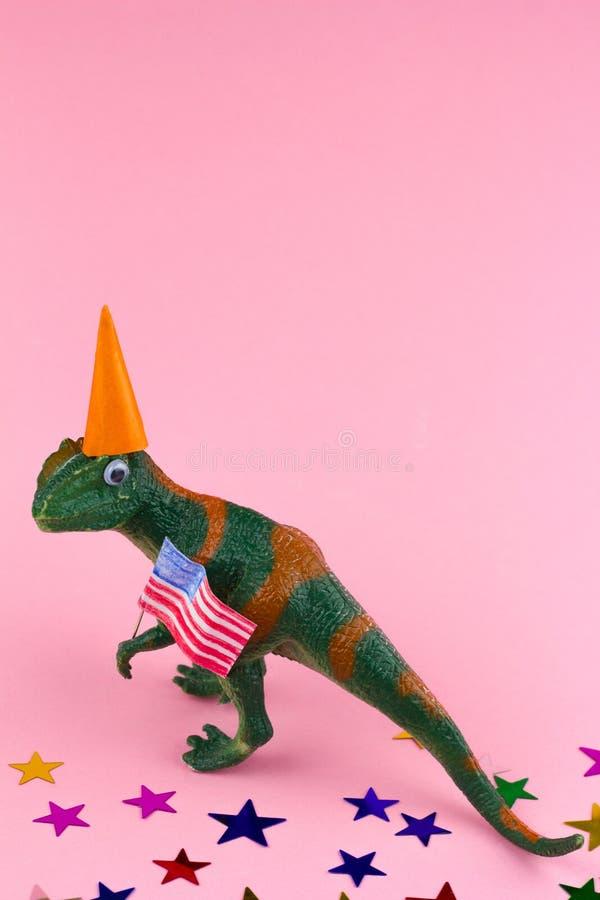 Πλαστικός αστείος πράσινος δεινόσαυρος στοκ εικόνες