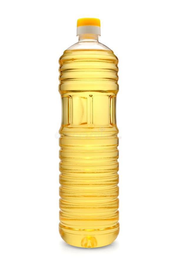 πλαστικός ηλίανθος πετρελαίου μπουκαλιών στοκ εικόνες