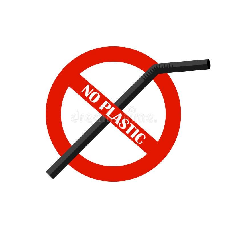 Πλαστικό άχυρο κατανάλωσης κανένα πλαστικό Πρόβλημα ρύπανσης επάνω από ποδηλάτων καναλιών eco ενεργειακών το φιλικό προς το περιβ απεικόνιση αποθεμάτων